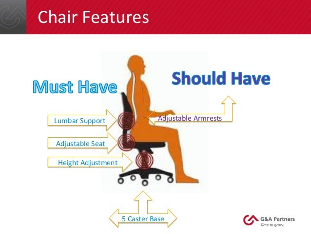 Amazing Chair Features Height Adjustment 5 Caster Base Lumbar Support ...