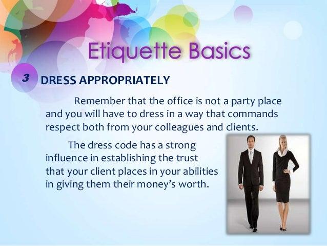 Office Dress Etiquette