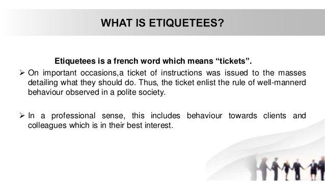 office etiquette Slide 2