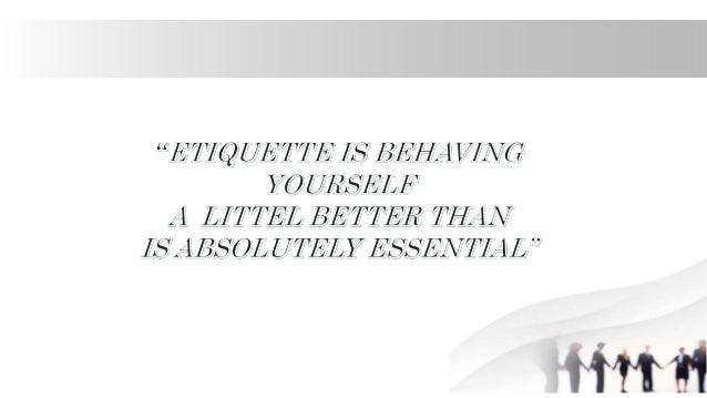 office etiquette Slide 3