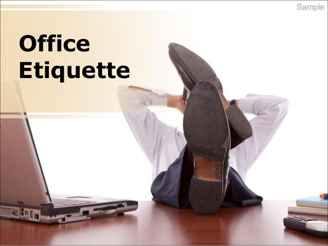 Office Etiquette Sample