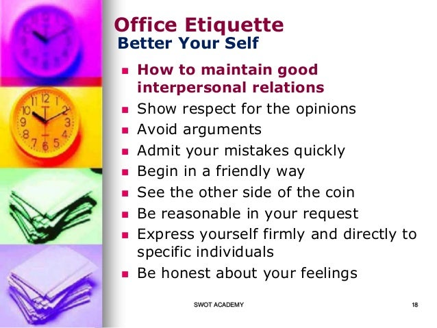 Office etiquette tips - Office opslag tip ...