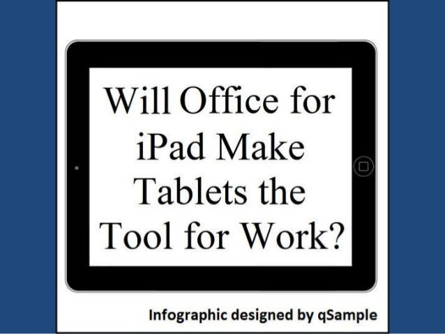 Will Office for iPad make Tablets the Tool for Work?