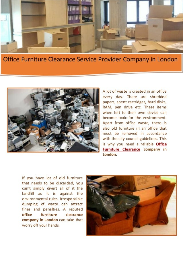 office furniture clearance service provider company in london
