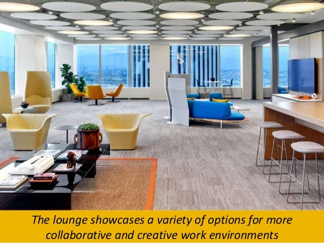 creative office environments. 3. The Lounge Showcases A Variety Of Options For More Collaborative And Creative Work Environments Office