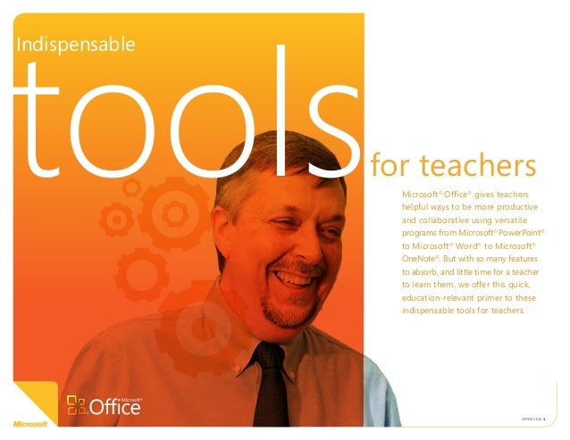 Indispensable tools for teachers in Microsoft  Office