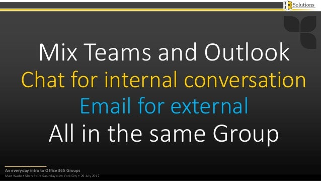 Office groups intro slides
