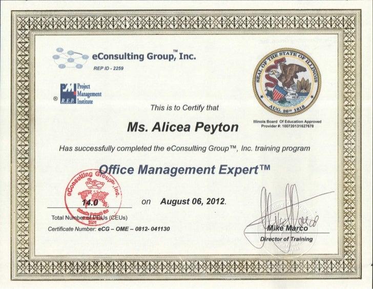 Management Expert Certificate