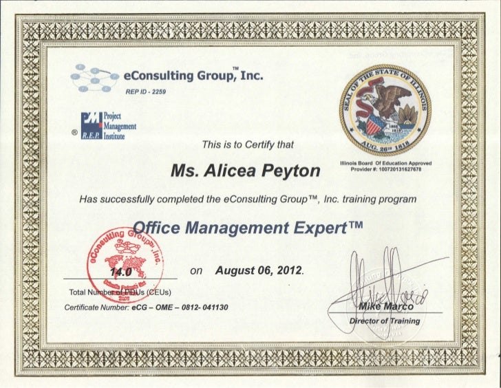 certificate office management expert slideshare upcoming