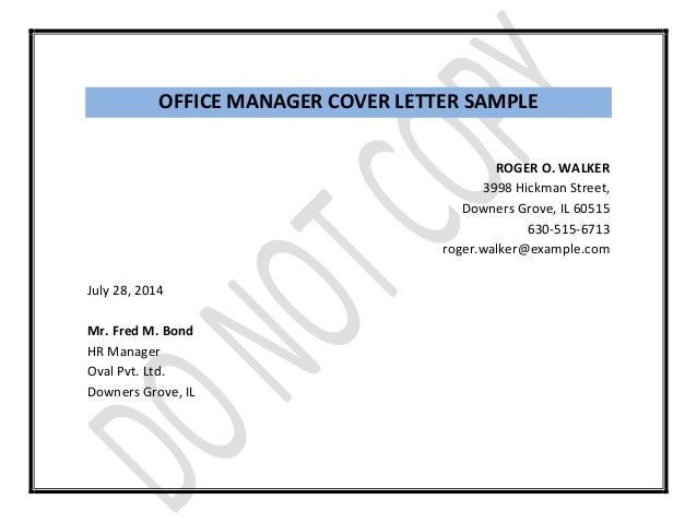 manager resume with your cover letter 4 office - Office Manager Cover Letters
