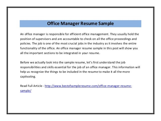 Resume Examples Office Manager Resume Sample Transport And Logistics Manager
