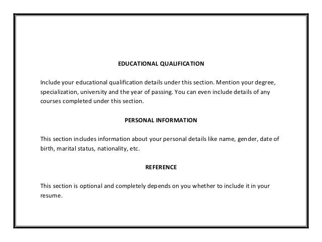 Stunning How To Mention Educational Qualification In Resume Ideas