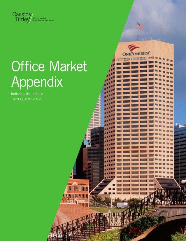 Office MarketAppendixIndianapolis, IndianaThird Quarter 2012