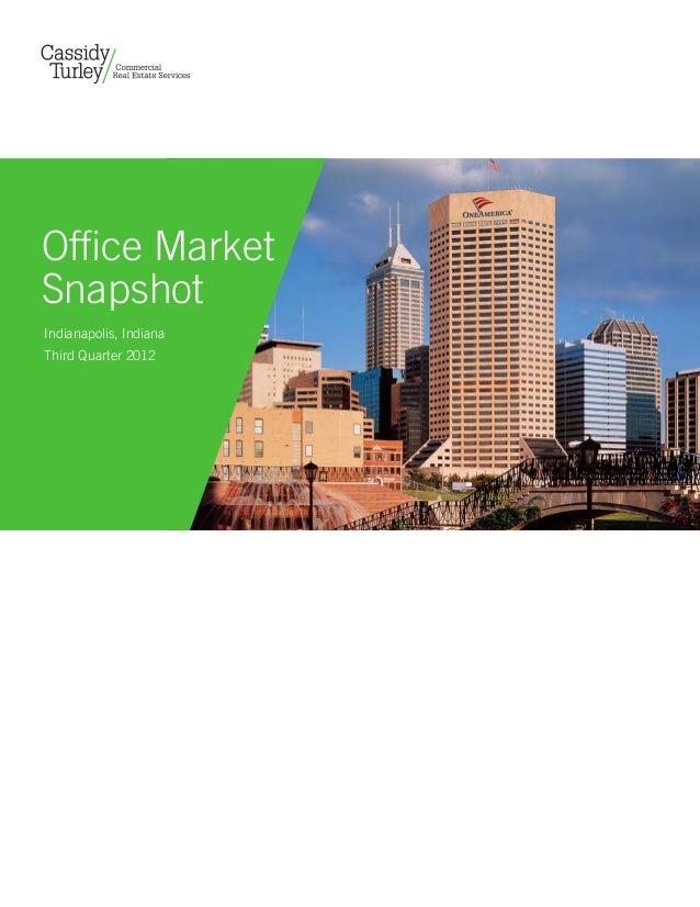 Office MarketSnapshotIndianapolis, IndianaThird Quarter 2012                        Copyright aboveallphoto.com 2010