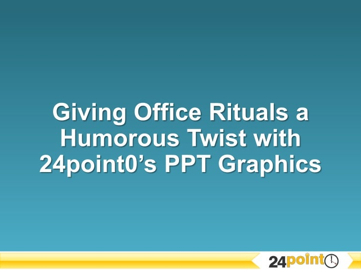 Giving Office Rituals a Humorous Twist with 24point0's PPT Graphics