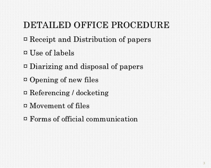 office practices and procedures pdf