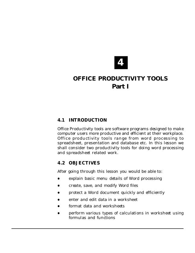 Office productivity tools (part i) (3.13 mb)