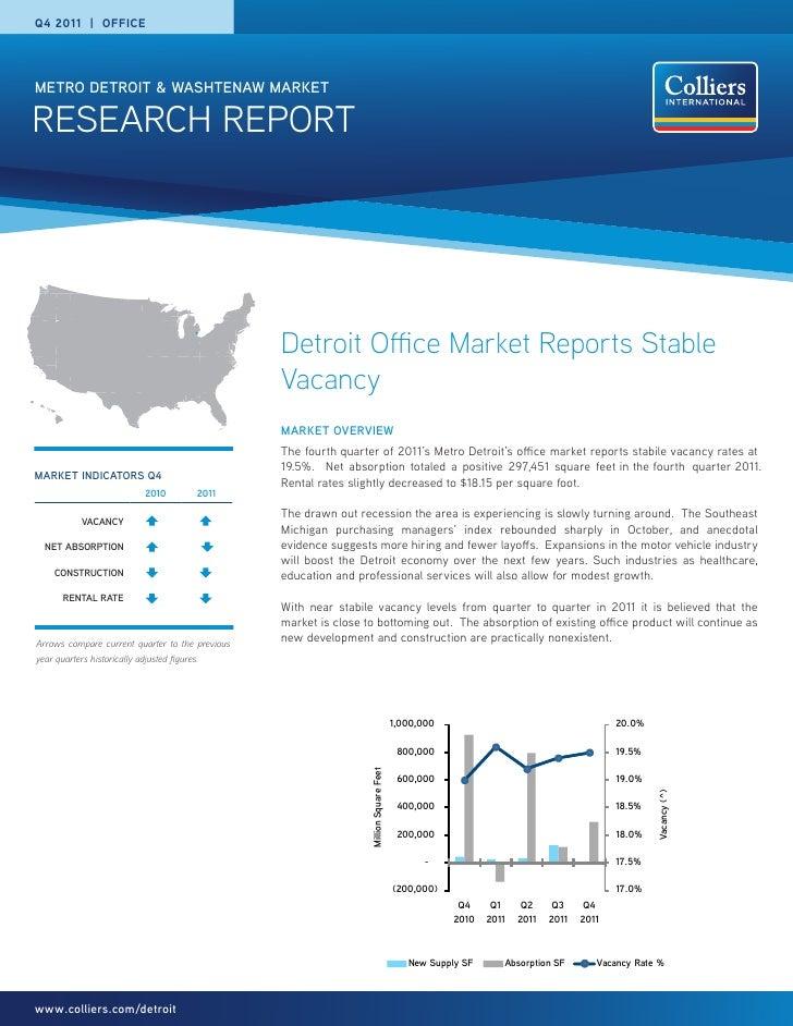 Q4 2011 | OFFICEMETRO DETROIT & WASHTENAW MARKETRESEARCH REPORT                                                 Detroit Of...