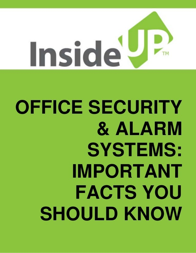 Office security alarm systems important facts you for Haute you should know
