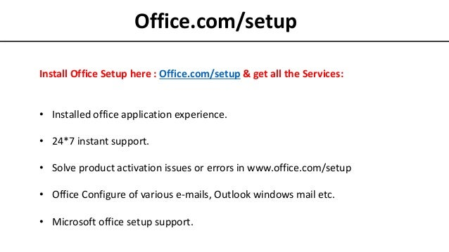 Office com/setup : Install Office 365 with Product Key