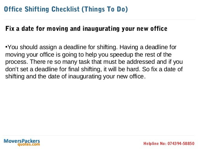 Office Shifting Checklist - How to Prepare and Move your office