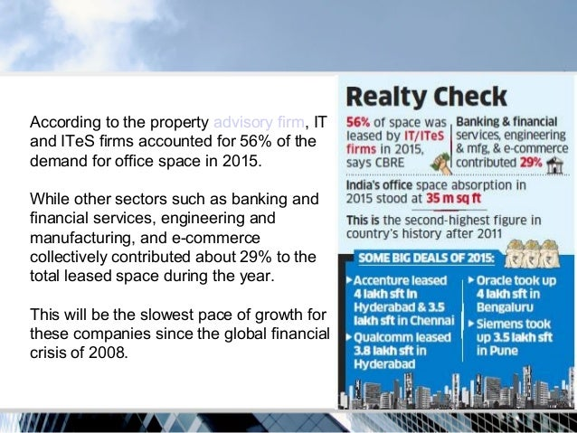 IT, ITeS firms biggest office occupiers in 2015