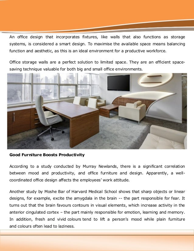 Office Space: An Increasingly In Demand Commodity Zilo Furniture; 2.