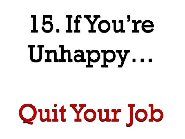 15 Rules to a Satisfying Career