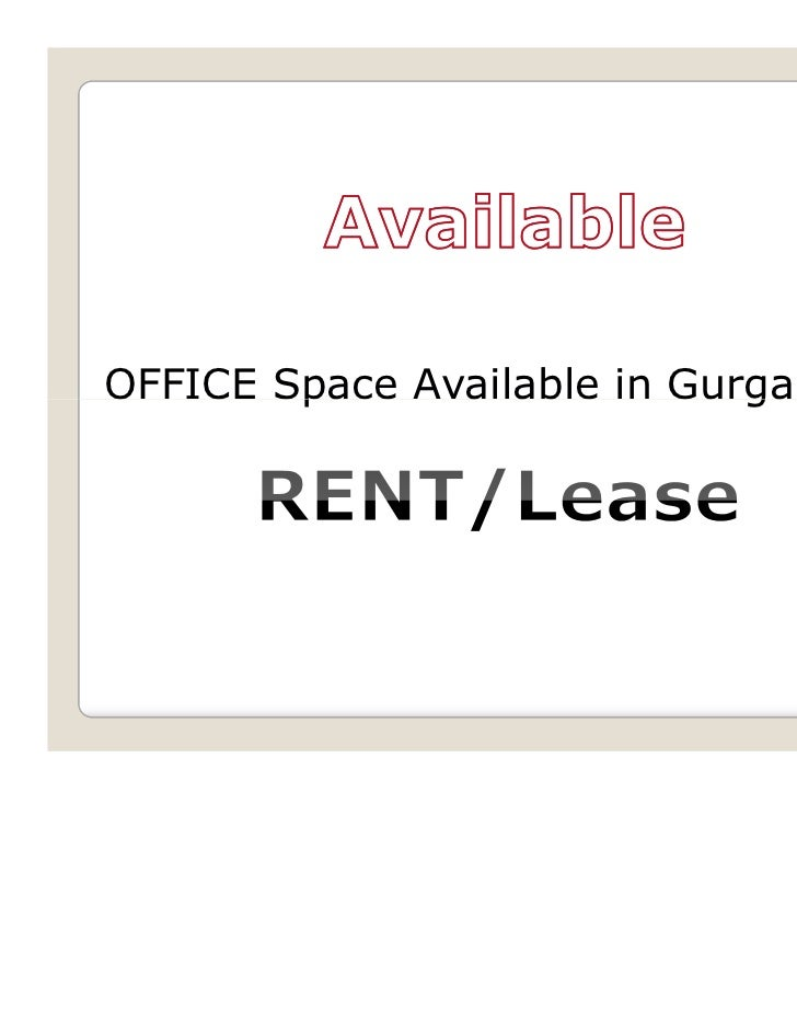OFFICE Space Available in Gurgaon