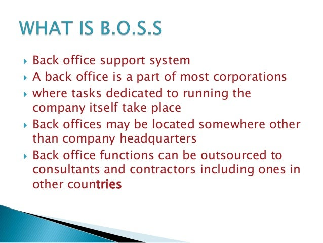 Trading office supporting system