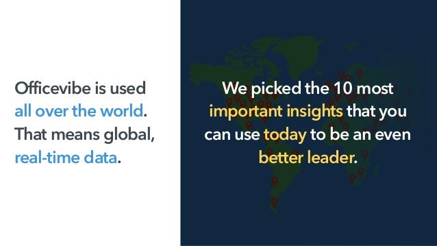Officevibe is used  all over the world.  That means global,  real-time data. We picked the 10 most important insights t...