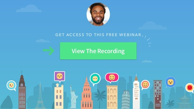 GET ACCESS TO THIS FREE WEBINAR View The Recording