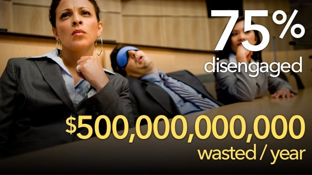 Pagetitle $500,000,000,000 wasted/year 75% disengaged