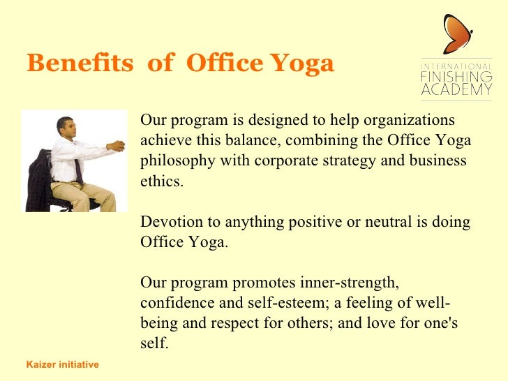 Office yoga on your chair for Chair yoga benefits