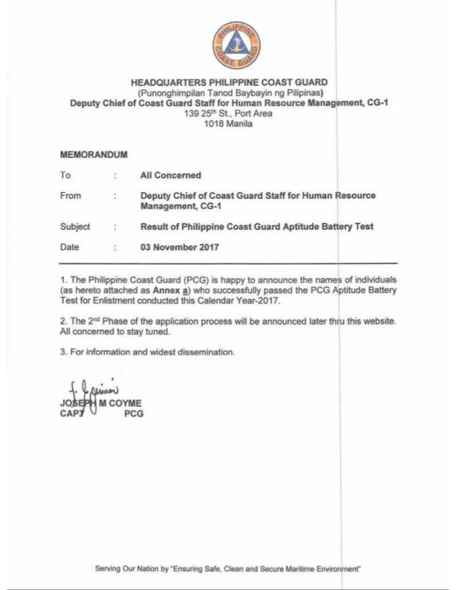 OFFICIAL PCGABT RESULTS C.Y 2017