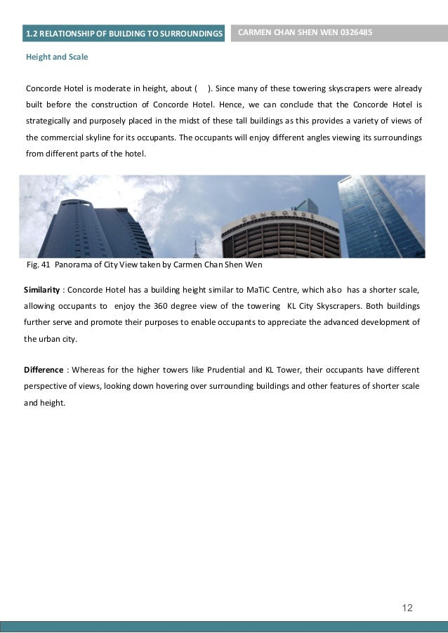 Architectural Analysis Report of Concorde Hotel, Kuala Lumpur