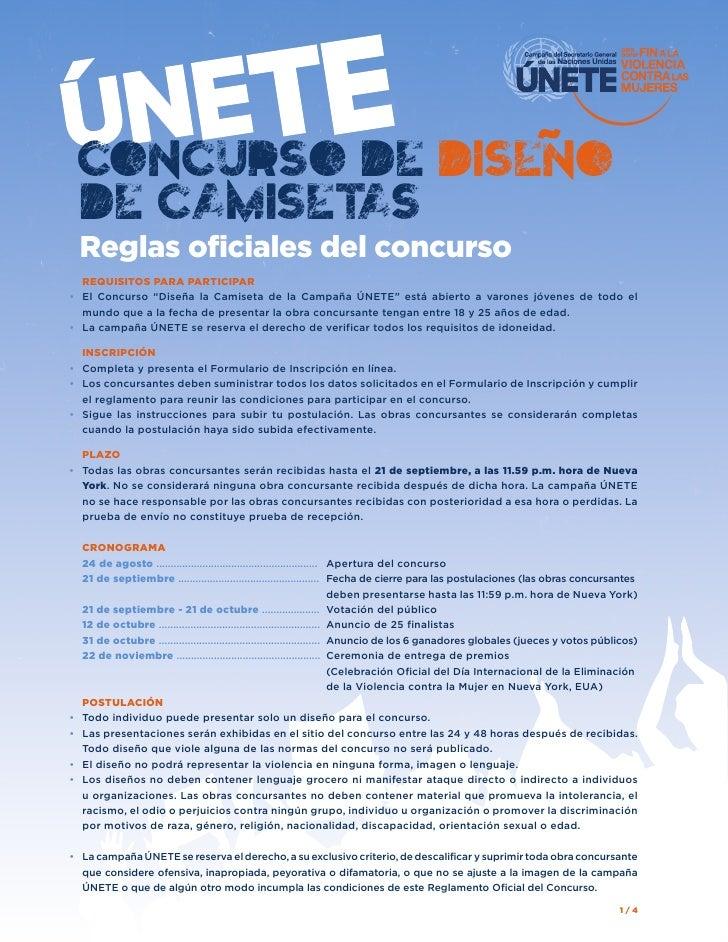 """CONCURSO DE DISENO DE CAMISETAS  Reglas oficiales del concurso   REQUISITOS PARA PARTICIPAR• El Concurso """"Diseña la C..."""