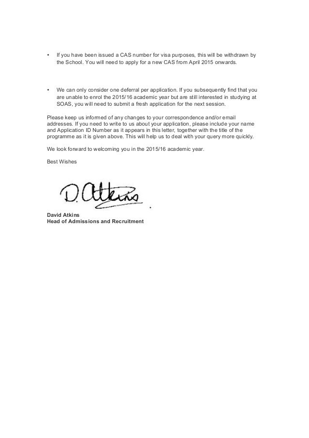 How to write a letter to defer admission gallery letter format defer admission letter sample dolapgnetband defer admission letter sample expocarfo spiritdancerdesigns Choice Image