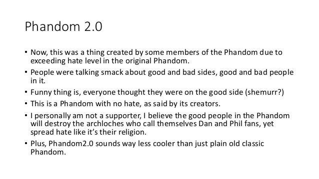 Phandom Rules