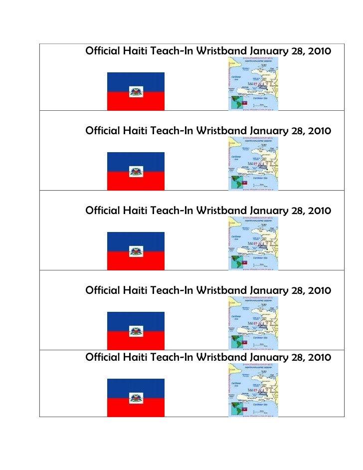 Official Haiti Teach-In Wristband January 28, 2010Official Haiti Teach-In Wristband January 28, 2010Official Haiti Teach-I...