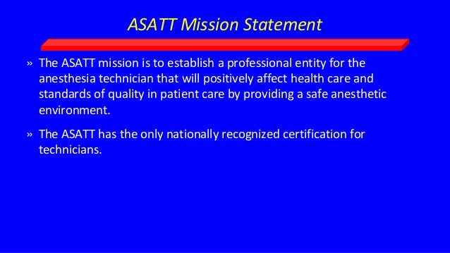 ASATT – American Society of Anesthesia Technologist and Technicians