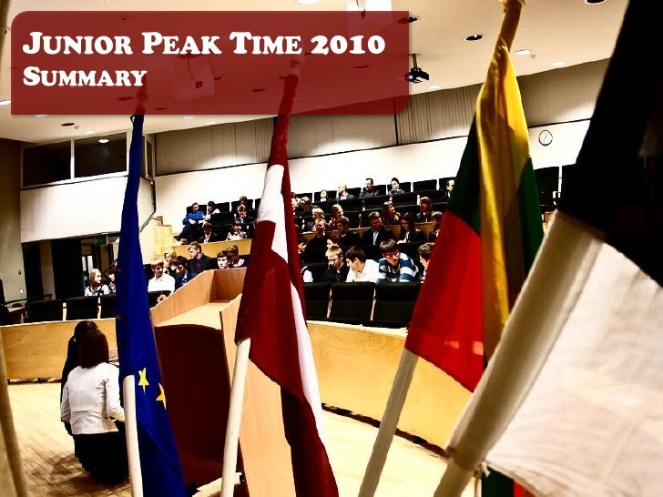 In Junior Peak Time 2010 preliminaryrounds, students had to solve a set oftasks, namely simplelogics, Microeconomics, Mana...