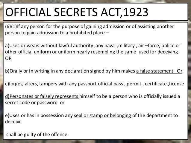 Official Secrets Act