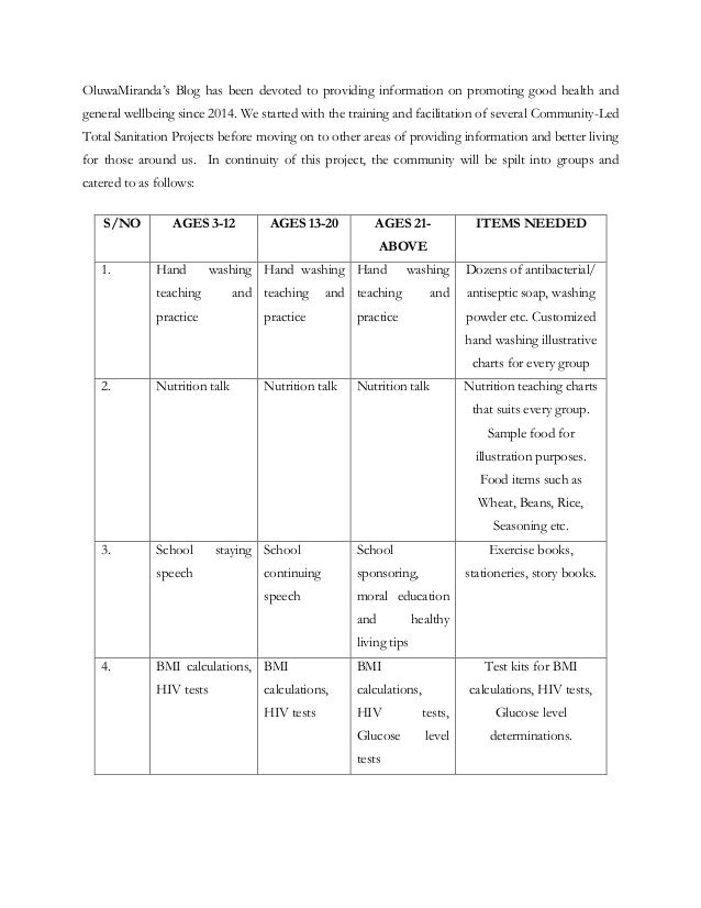 Official End Hunger Project Sponsorship letter