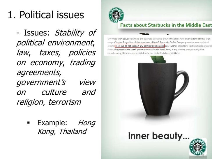 environmental analysis of starbucks This swot analysis discusses starbucks the us no 1 specialty coffee retailer in terms of market share and market capitalization the strengths, weaknesses, opportunites and threats that starbucks faces are summarised in an easy to read swot analysis.