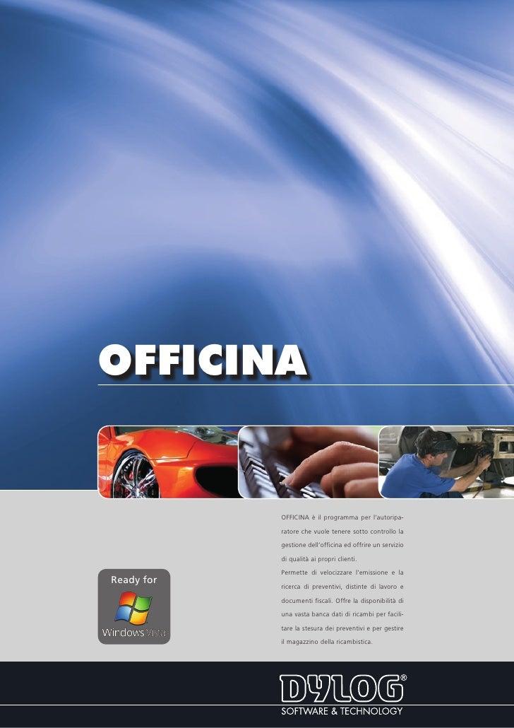 OFFICINA               OFFICINA è il programma per l'autoripa-              ratore che vuole tenere sotto controllo la    ...