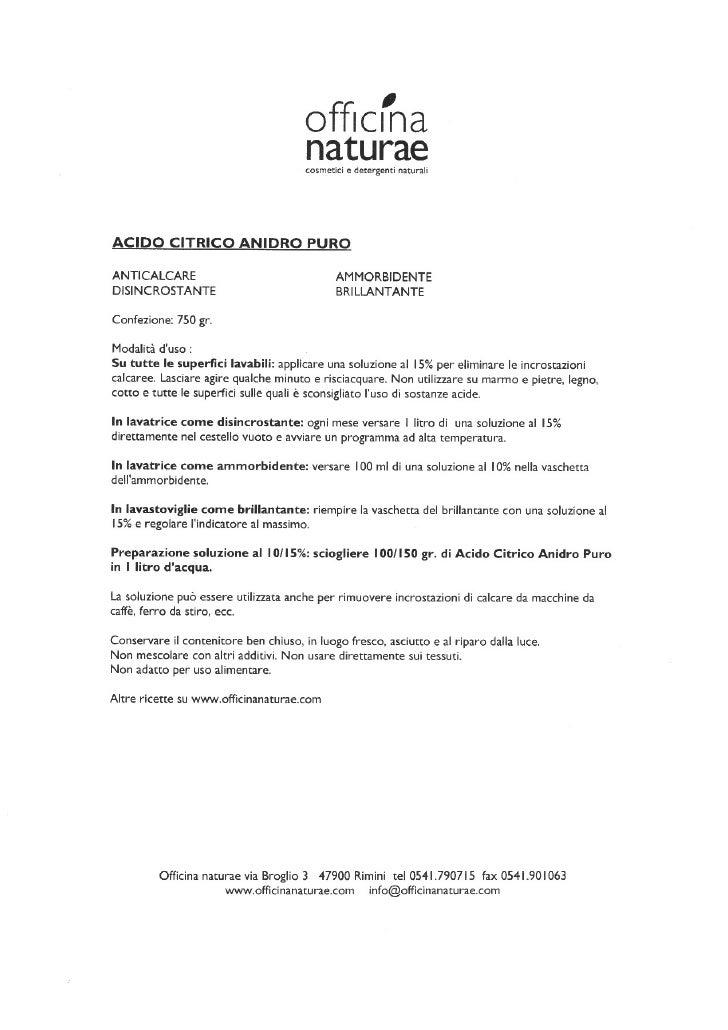 Officina Naturae Acido Citrico Anidro Puro