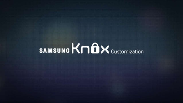 KNOX Customization for Hospitality Industry