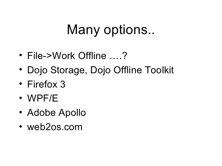 what is offline web application