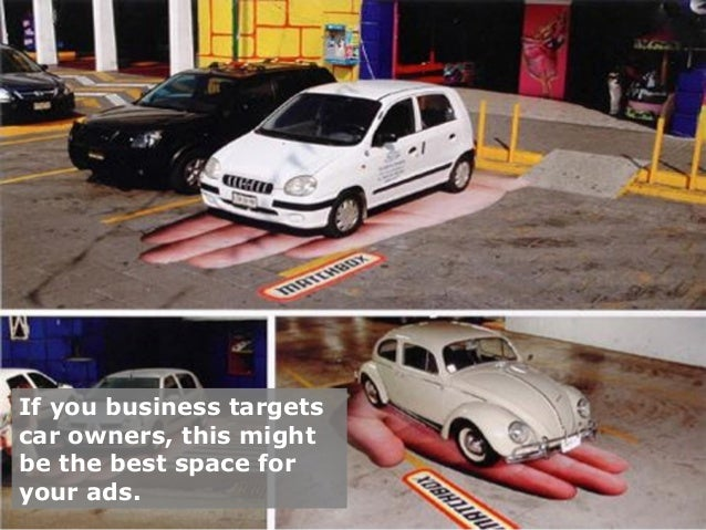 If you business targets  car owners, this might  be the best space for  your ads.